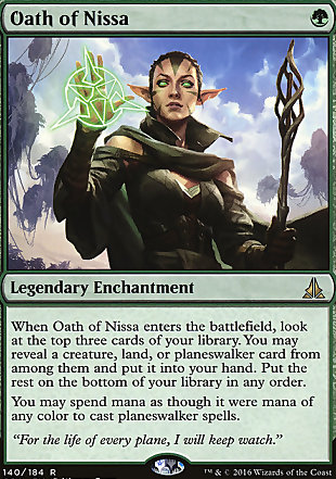 image of card Oath of Nissa