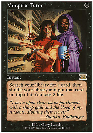 image of card Vampiric Tutor