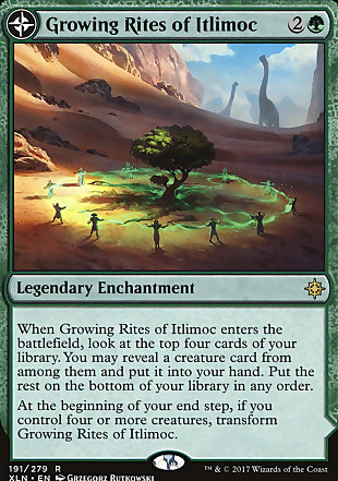 image of card Growing Rites of Itlimoc // Itlimoc, Cradle of the Sun